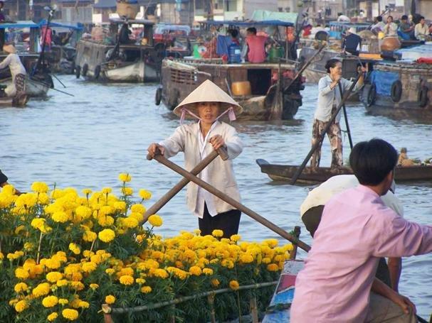 Cai Be drijvende markt (Mekong delta)