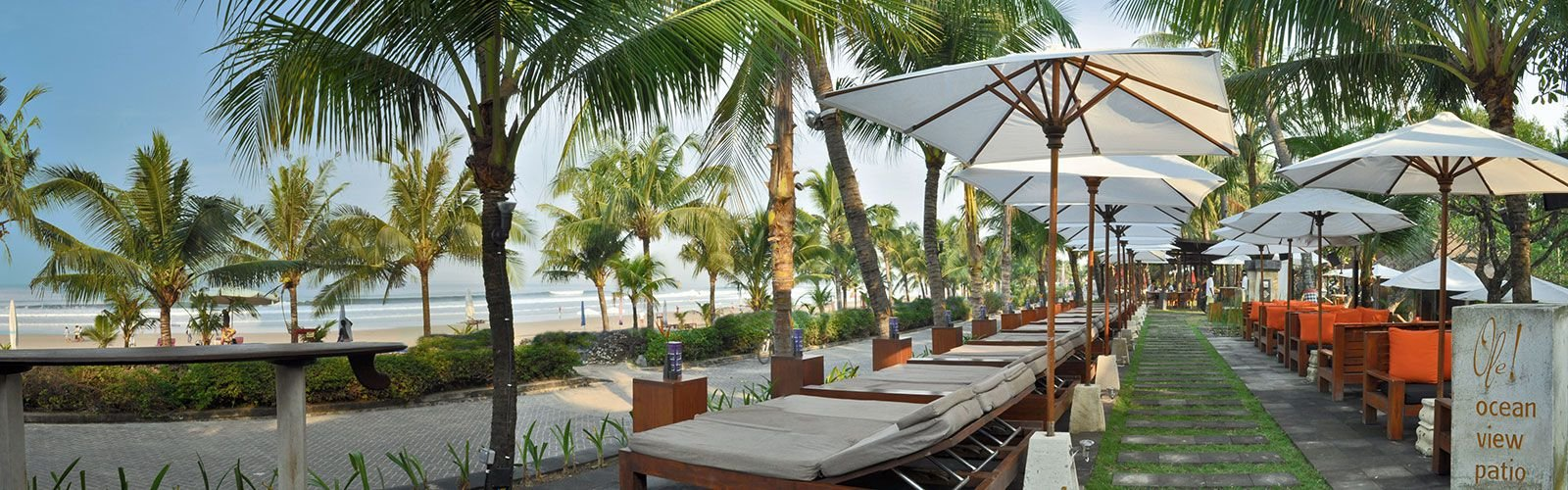 Legian beach hotel, beachfront