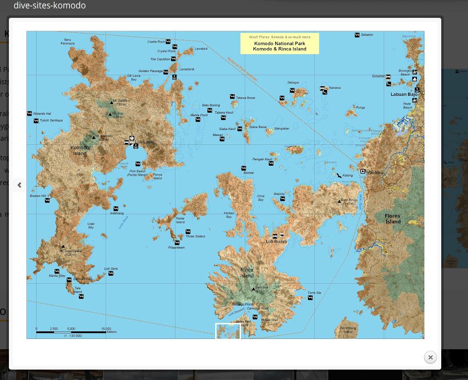 Komodo dive map