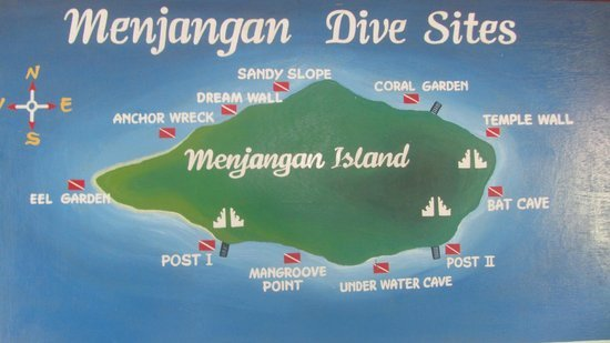 Menjangan dive map